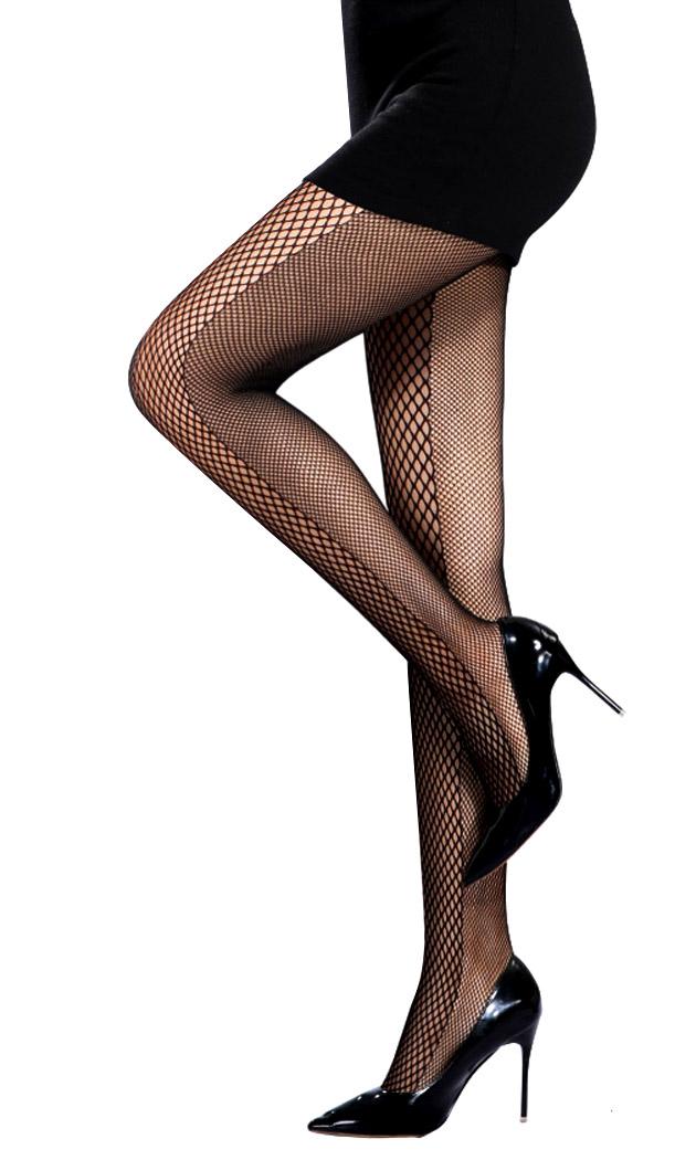 une taille femme sexy noir Collants résille noir