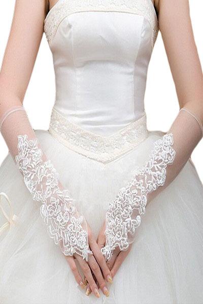 Blanc, Noir, Rouge, ... Mariage Opéra Mitaine en Résille Longue