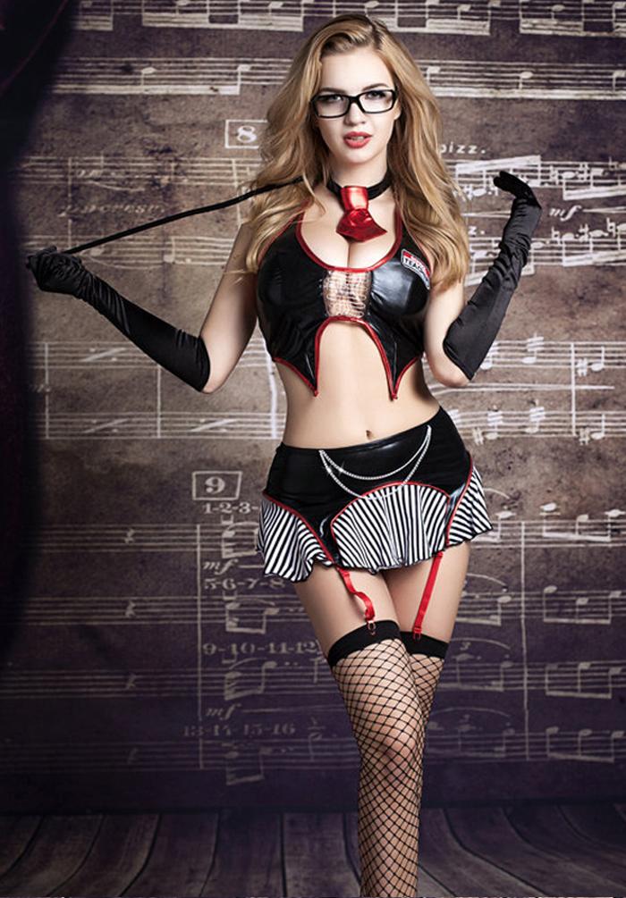Tenue Costume Professeur Sm Sexy Porte Jarretelle Pcs T Costume EBay - Porte jarretelle sexy