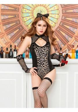 Body Resille Noir Vinyl Leopard Chat Catwoman 4pcs