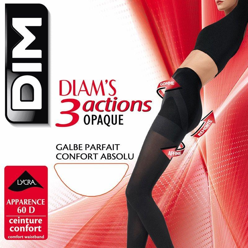 DIM Collant Voile 3 Actions Opaques (Marron)
