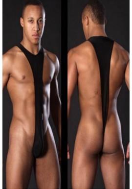 Body String Homme Transparent NOir