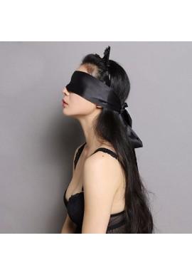 Ruban Satin Bandeau Masque Sexy Noir