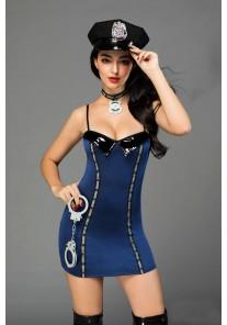 Tenue Costume Robe Policière 5 pièces Sexy Police