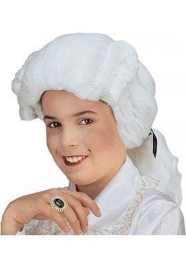 Widmann Perruque Marquis Enfant Lord Baroque Blanc