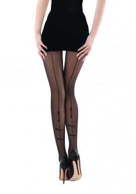 Collant Voile Noir Effet Couture Noir Onde Just Live