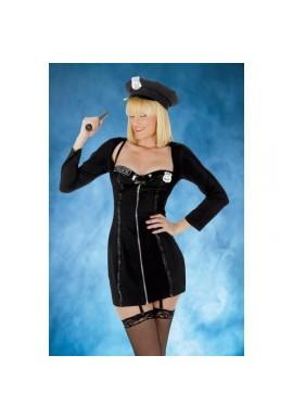 Tenue Déguisement Policière Robe Courte 5pcs
