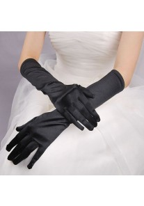 Gants Longs en Satin (Blanc, Rouge, Noir, Rose, Bleu, Or, Violet, Gris, Bleu)