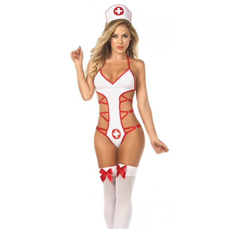 Tenue Body Infirmière Teddy Nurse Laçage