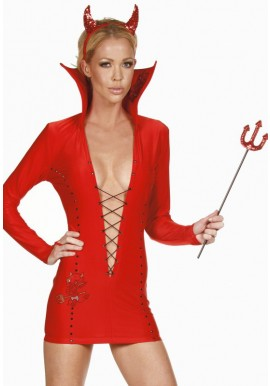 Tenue Diable Mini Robe Demon Halloween