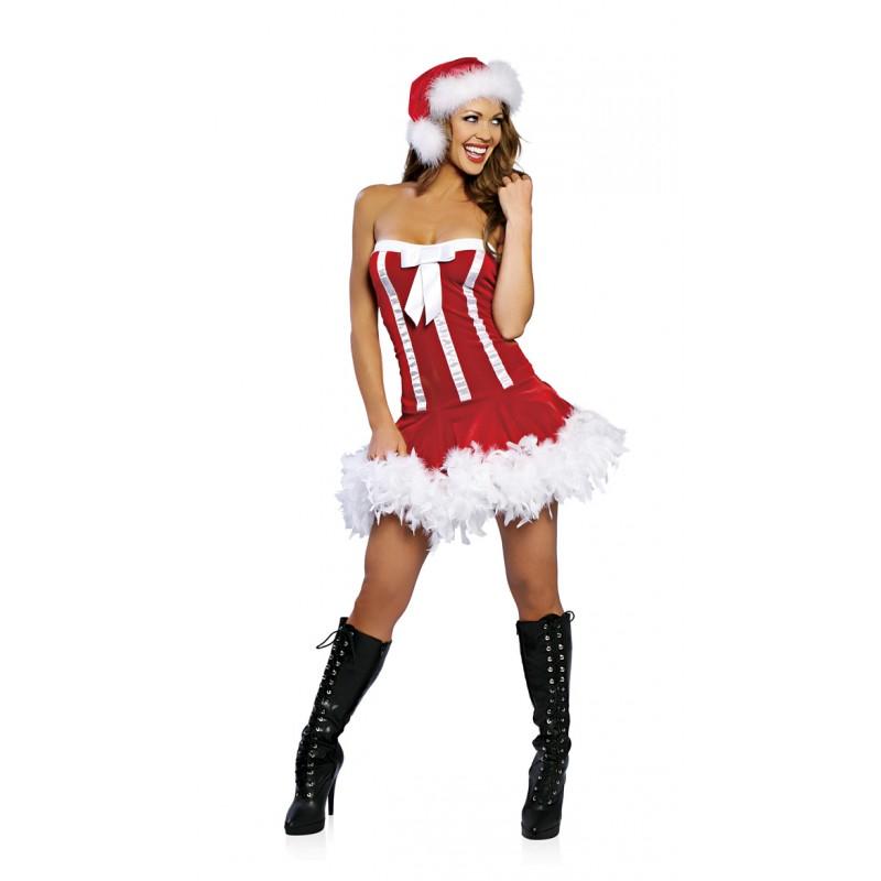 Tenue SEXY MERE NOEL Robe Santa Noeud