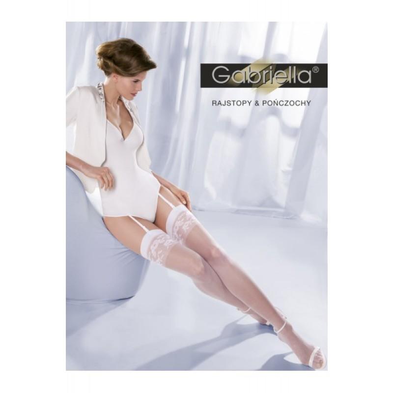 Bas Blanc Mariage Motif Floral Princessa calze 10