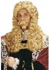 Widmann Perruque Longue Blonde Homme Roi