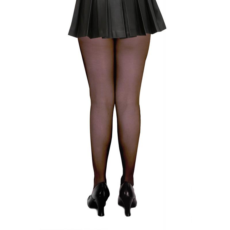 Collant Voile Noir LETICIA Yves Saint Laurent Strass