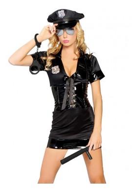 Tenue Costume Robe Policière 4 pièces Sexy Police