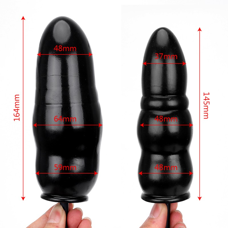Anal Dong Plug Gonflable Double Ondulation Picket