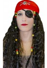 Perruque Pirate Mixte avec Foulard Tete de Mort