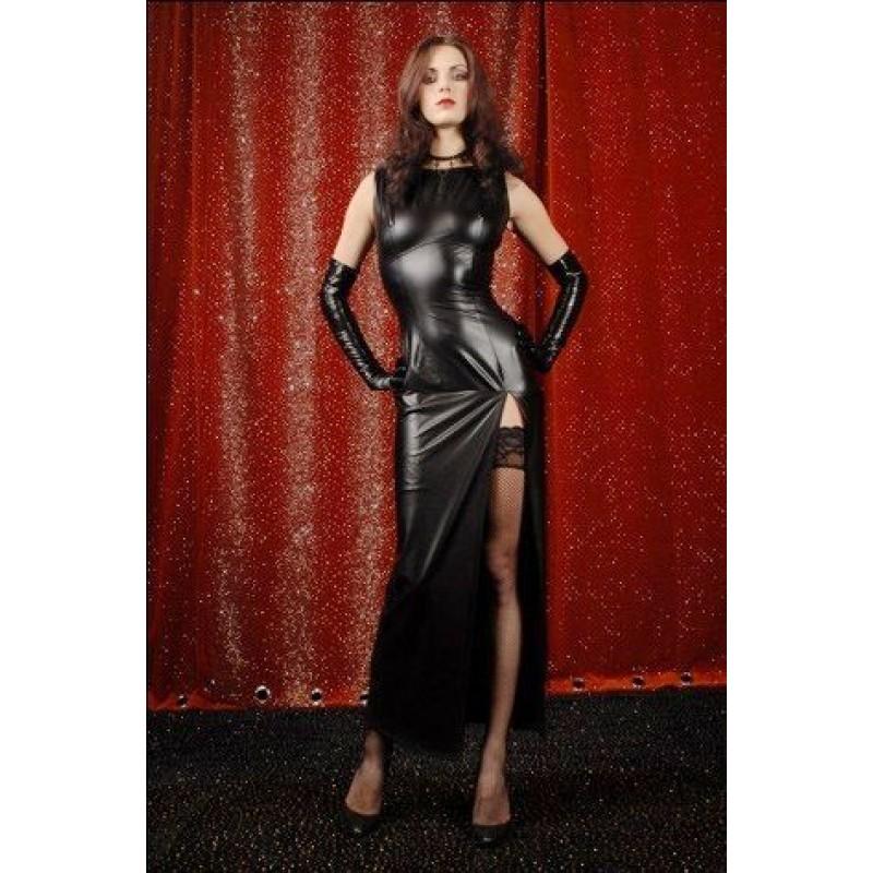 Robe Longue Noir Gothique Vinyl