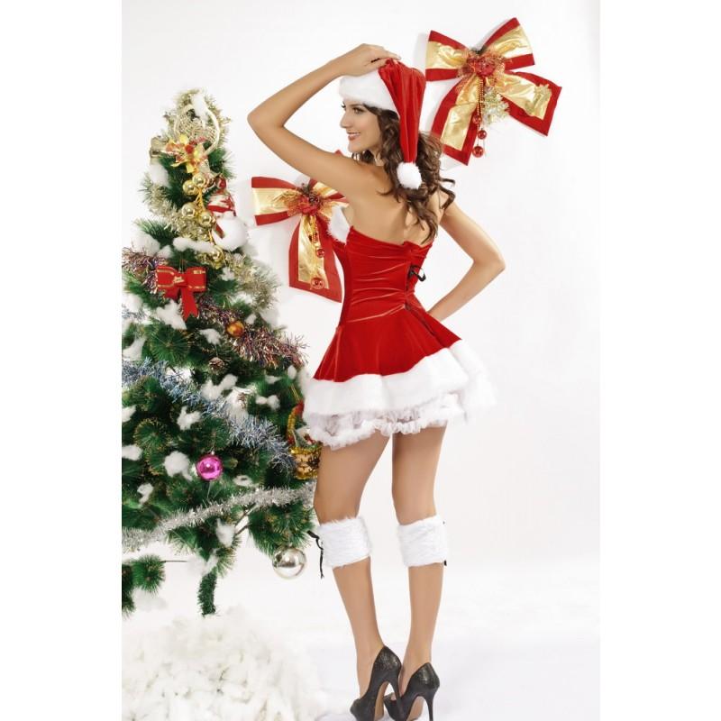 Christmas Noël Mère Mini Robe Plissé Déguisement Nuit