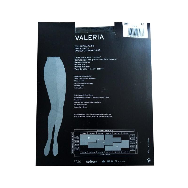 Collant Resille Dentelle Motif Masque VALERIA Yves Saint Laurent