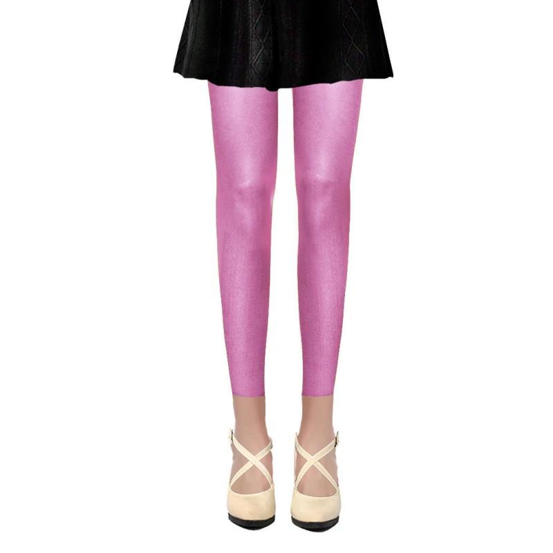 Collants Voile Opaques 50 Deniers Sans Pied Leggings Violet Lilas