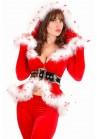 Ensemble Tenue Mère Noël Sexy Pantalon Soirée