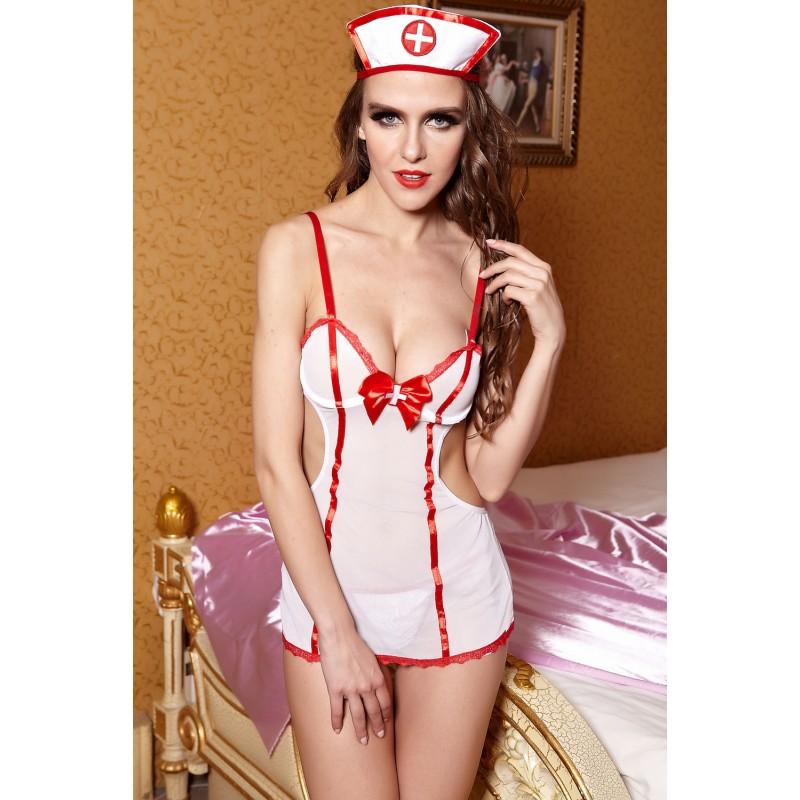 Tenue Infirmière Body Mini Robe