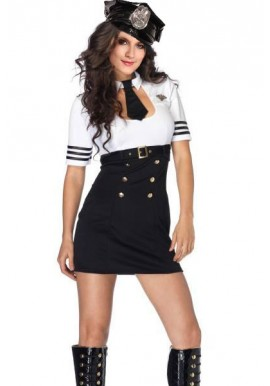 Tenue Pilote Capitaine Sexy