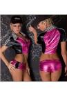 Tenue Sport Racing Compétition Costume Vinyl Rose