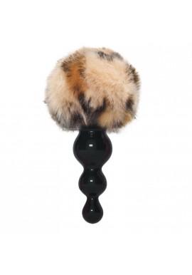 Plug anal Queue renard Boule Style ROSEBUD Silicone Ondulé