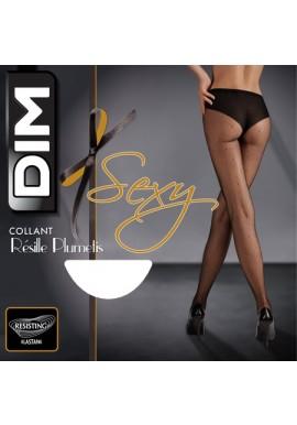 Dim Collant Sexy Résille Plumetis Noir 65D