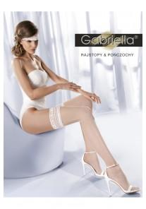 Bas Blanc Mariage Dentelle Princessa calze 01