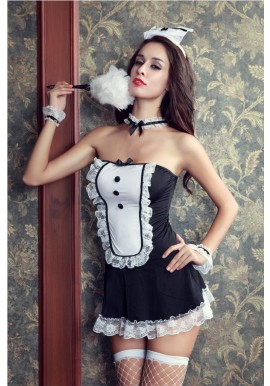 Tenue Soubrette Maid Servante Attentionné 5pcs