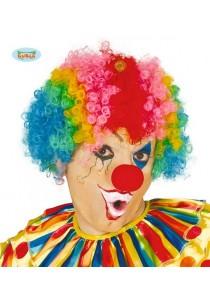 Perruque pop clown multicolore