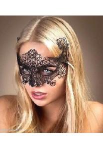 Masque Dentelle Sexy Lou Venitien Bal Masqué Noir