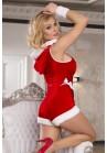 Body Mere Noel Ouvert Pompom Capuche Christmas