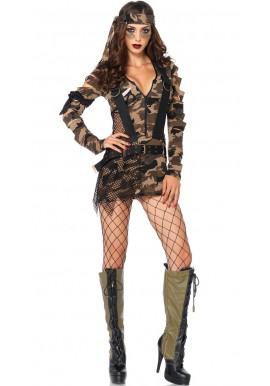 Tenue Déguisement Militaire Army Femme Sexy