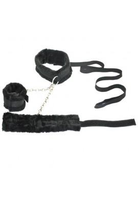 Laisse Collier Menottes Handcuffs Bondage SM