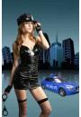 Tenue Police Woman PVC Vinyl Fancy Dress