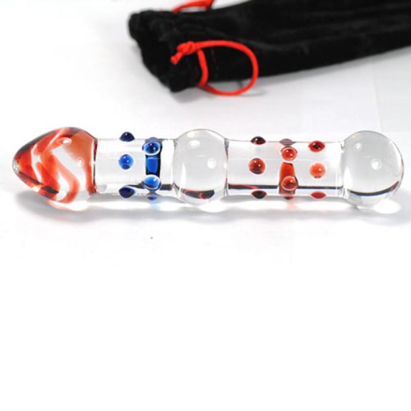 Gode en Verre Picots Fusée Glass