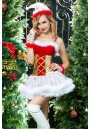 Tenue Mere Noel Robe Or Blanche Snowflake 4 pcs