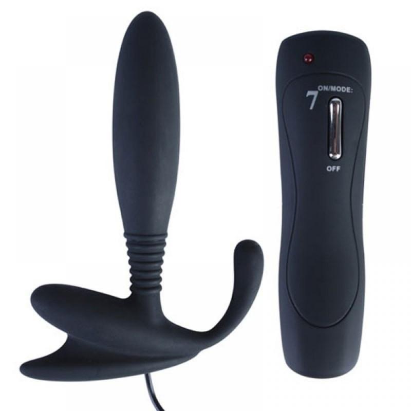 Vibromasseur Anal Prostate en Silicone 7 Modes Noir