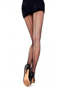Collant Resille Noir Effet Couture