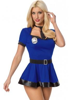 Tenue policiere sexy bleue