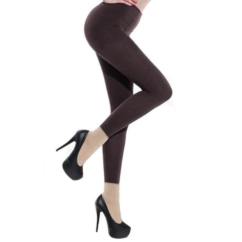 Collants Voile Opaques 90 Deniers Sans Pied Leggings Gris